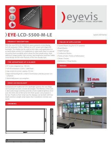 EYE-LCD-5500-M-LE Data Sheet - Eyevis GmbH