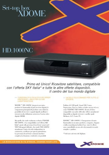 Set-top box HD.1000NC - Plasmapan Italia
