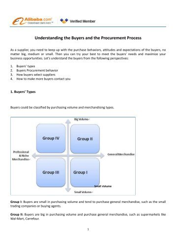 Understanding the Buyers and the Procurement Process - Alibaba