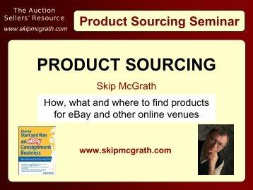 Product Sourcing - Alibaba