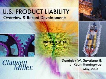 U.S. Products Liability - Alibaba
