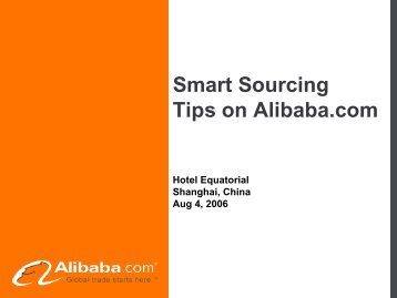 Smart Sourcing Tips on Alibaba.com