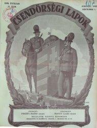 xvm. ÉVFOLYAM - Magyar Királyi Csendőrség