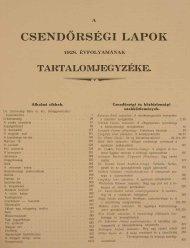 CSENDŐRSÉGILAPOK - Magyar Királyi Csendőrség