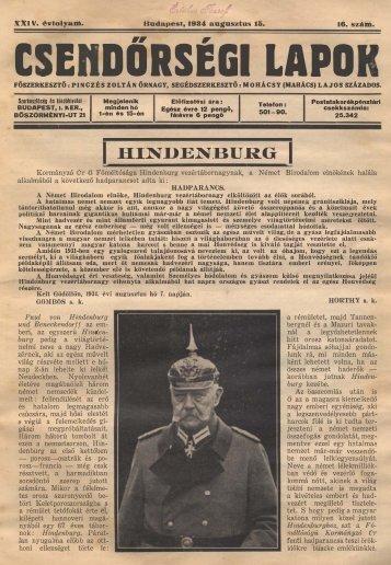 C E DŐRSÉGI LAPO - Magyar Királyi Csendőrség