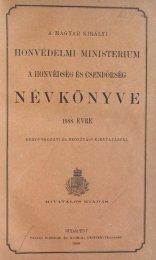 NEVKONYVE - Magyar Királyi Csendőrség