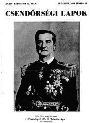 CSE DŐRSÉGI LAPOK - Magyar Királyi Csendőrség