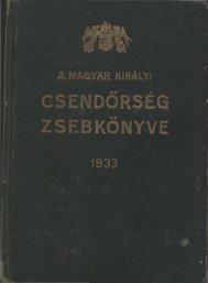 1933. - Magyar Királyi Csendőrség