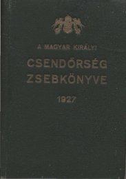 1927 - Magyar Királyi Csendőrség