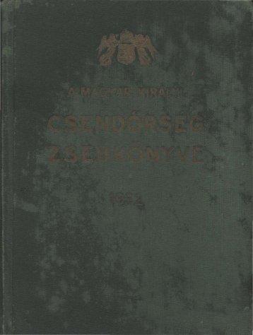 1932. - Magyar Királyi Csendőrség