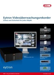 Eytron Videoüberwachungsrekorder - ABUS Security-Center