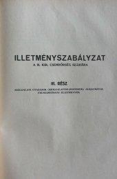 ILLETMÉNYSZABÁLYZAT - Magyar Királyi Csendőrség