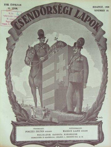 32. sZÁM. - Magyar Királyi Csendőrség
