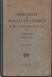 01 SZUT1941 Szervezet pp01-28.pdf - Magyar Királyi Csendőrség
