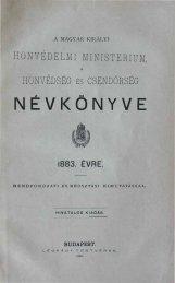 NÉVKÖNYVE - Magyar Királyi Csendőrség