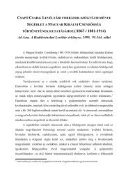 Segédlet a Magyar Királyi Csendőrség történetének kutatásához ...