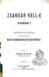 ZSANDÁR KElL