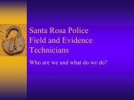 Job Overview - City of Santa Rosa