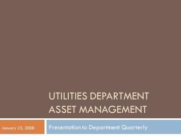 Asset Management Plan Presentation - City of Santa Rosa