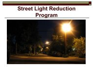 Street Light Reduction Program Report - City of Santa Rosa