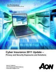 Cyber Insurance 2011 Update | Aon