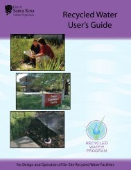 Recycled Water User's Guide - City of Santa Rosa