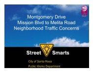 Montgomery Dr- Mission Blvd to Melita Rd - City of Santa Rosa