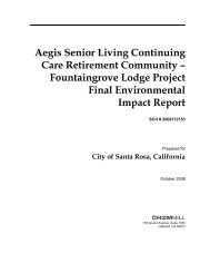 Fountaingrove Environmental Impact Report - City of Santa Rosa ...