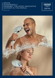 GROHE POwER&SOul® PRObably tHE mOSt innOvativE SHOwER ...