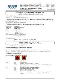 Sicherheitsdatenblatt 1615500/GRO 008 (CHD) - Grohe