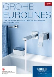 THE WORLD'S BEST-SELLING FAUCET RANGE www.grohe.com
