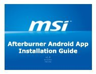 Afterburner Android App Installation Guide - MSI