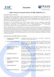EMC NetWorker - antauris AG