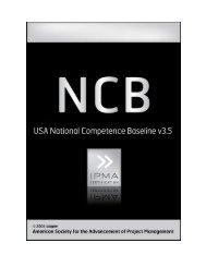 USA National Competency Baseline 1.0 - asapm