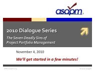 Presentation Slides in Adobe Acrobat pdf format - asapm