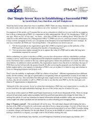 'Simple Seven' Keys to Establishing a Successful PMO - asapm