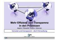 Mehr Effizienz und Transparenz in den Prozessen