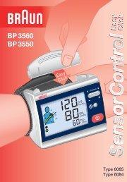 SensorControlSensorControlSensorControl - Braun Blood Pressure ...