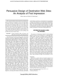 Persuasive Design of Destination Web Sites: An Analysis of First ...