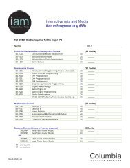 IAM Game Programming BSc 4 Year Plan and