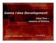Game Idea Development
