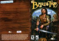 The Bard's Tale - Manual - PC