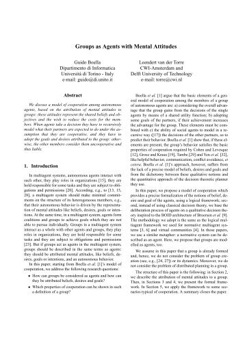 Groups as Agents with Mental Attitudes - Individual and Collective ...