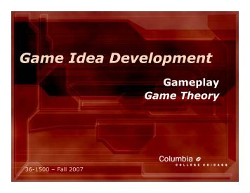 Game Idea Development - IAM