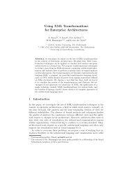 Using XML Transformations for Enterprise Architectures