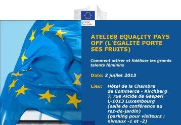 ATELIER EQUALITY PAYS OFF (L'ÉGALITÉ PORTE ... - AHK debelux