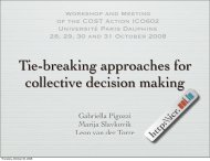 Desirable tie-breaking rules in collective decision making