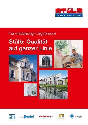 Stülb: Qualität auf ganzer Linie - AHK debelux