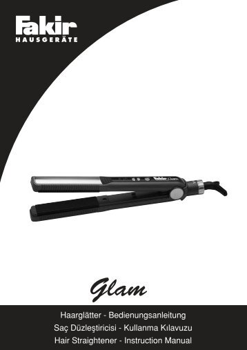Saç Düzlefltiricisi - Kullanma K›lavuzu Hair Straightener ... - Fakir