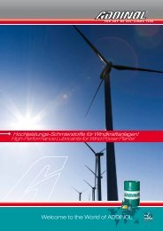 High-Performance Lubricants for Wind Power Plants!